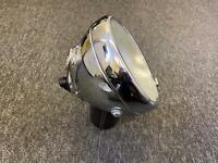 "bsa triumph norton ajs Lucas 8"" Chrome Headlamp Headlight with flat glass"