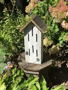 BUTTERFLY HOUSE Whitewashed Rustic Weathered Natural Wood USA HANDMADE