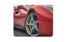 Red Ferrari Mouse Mat Pad - Sports Car Dad Brother Son Gift PC Computer #8783