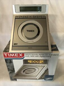Timex Nature Sounds Stereo CD Dual Alarm Clock Radio w Digital Tuning