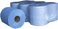 12 rolls x Blue Centrefeed Embossed 2ply Wiper Paper Towel