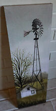 AMISH WEATHERVANE Rustic Country Windmill & Barn Canvas Sign Home Farm Decor NEW