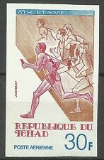 Tchad Sport Jeux Olympiques Athletisme Olympic Games Non Dentele Imperf ** 1977
