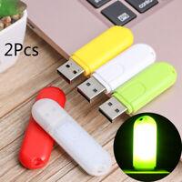 2Pcsx Mini Flexible USB LED Lamp Car Atmosphere Light Reading Lamp Power Saving~