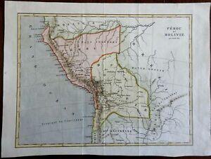 Peru & Bolivia Lima La Paz Andes Mountains South America 1843 Jenotte map
