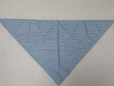 5 x White/Blue striped Neckerchief Bandana Neck Scarf Head wear Triangle BNIP