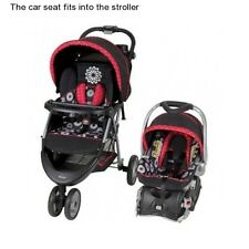 Girl's Single Baby Stroller and Car Seat Infant Travel System Carriage Strollers