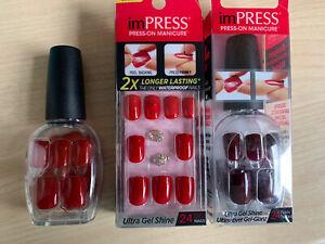 3 Packungen Künstliche Fingernägel (imPRESS Je 24 Nails in 12 sizes)