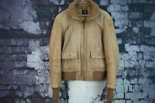 Womens Oasis Brown Leather Jacket size 14 No.F321 8/10