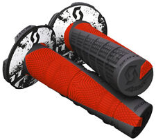 Scott USA Deuce Motorcycle MX Handlebar Grips Black/Neon Red With Donuts