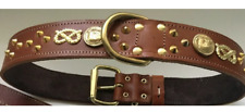 """STAFFORDSHIRE/STAFFIE/STAFFY/BULL TERRIER DOG COLLAR REAL LEATHER,1""""1/2 WIDE"""
