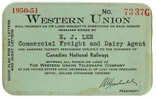 Frank card - Western Union Telegraph Co, 1950-1951, #7337G