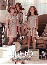 PUBLICITE ADVERTISING 2012 LIU-JO vetements Junior and baby