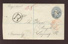 BAHAMAS QV STATIONERY ENV.1895 REGIST.to GERMANY 2 1/2d