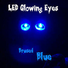 LARGE 10mm LED GLOWING EYES HALLOWEEN BLUE 9 VOLT 12 inch wires