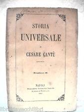 STORIA UNIVERSALE Sec XVI Cesare Cantù Luigi XIII a dominazione spagnola 1860