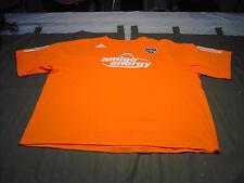 adidas  HOUSTON DYNAMO MLS HOLDEN 22 Amigo  Energy  Orange T' shirt Size 2XL
