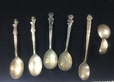 VINTAGE SILVERPLATED CHILDREN'S SPOONS HOWDY DOODY HUCKLEBERRY HOUND MICKEY
