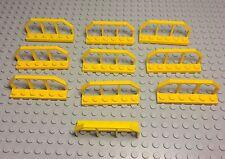 LEGO New Bulk X10 Yellow Plate Modified 1x6 with Train Wagon End / Rail Fences