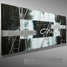HANDGEMALT Bild abstrakt C. GOETHE ORIGINAL Malerei modern Kunst Leinwand 80x40