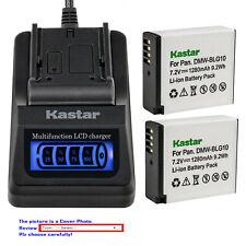 Kastar Battery LCD Quick Charger for DMW-BLG10 DMWBLG10E Panasonic Lumix DMC-GX7