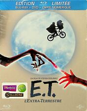 E.T. -2012 French Steelbook Blu Ray (NEW) RARE OOP (Steven Spielberg 1982) ET