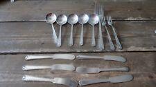 Vintage CASTLE SILVERPLATE Admiral Mission Cold Meat Fork Knives Spoons Forks