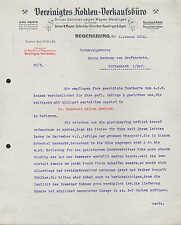 REGENSBURG, Brief 1913, Vereinigtes Kohlen-Verkaufsbüro Driver, Düncher, Jäger..