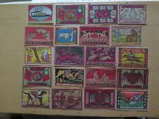 33 VARIOUS MATCH BOX LABELS c1920s NORMAL SIZE MADE CHINA or ASIA as REQUESTED