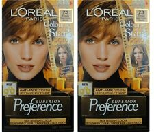 2 X Loreal S/ Preference Permanent Blonde Hair Colour 7.3 Florida Dark Golden