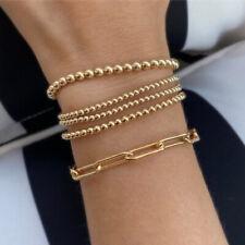 Dainty 14K Gold Filled Beads Beaded Bracelet Stacking Bracelets For Women 3PCS