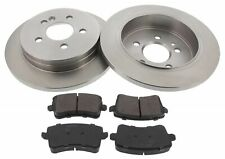 For Audi A4 A5 2x New Rear Solid Brake Discs Pads Set Pair