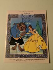 Vintage Disney Beauty And The Beast Press Out And Assemble Play Set Book