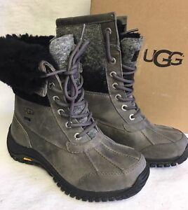 UGG Australia ADIRONDACK II Charcoal Grey WATERPROOF SHEEPSKIN BOOTS 1014387