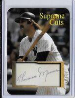 Thurman Munson Supreme Cuts Limited Edition Facsimile Autograph Sample Card