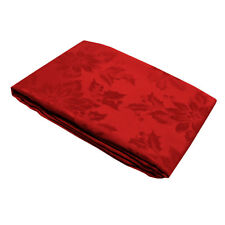 Jacquard Polyester Cotton Red Floral Kitchen Tablecloth 4 to 6 Seater 152x178cm