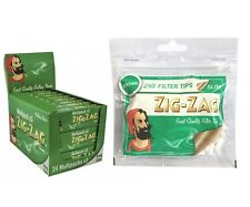 ZIG ZAG GREEN KING SIZE PAPERS MULTI PACK 24X3 PACK + MENTHOL FILTER 250 TIPS
