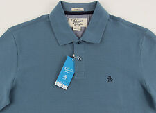 Men's PENGUIN Aegean / Gray Blue Polo Shirt XL XLarge NWT NEW Classic Fit Nice!