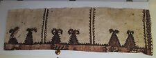 Genuine Vtg Tongan Ngatu Bark Cloth Tapestry ~Lge Remnant ~Polynesian Tapa ~6 ft