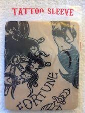 Brand New Nylon Tattoo Sleeve In Package - Fortune, Mermaids, Skulls, Knife