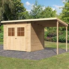 Hori Gartenhaus Skive 19 Mm Natur 436x237x220 Cm Gerätehaus Inkl Schleppdach