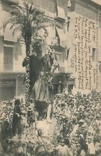SPAIN VALENCIA SAN CRISTOBAL MONUMENT 1905 ANTIQUE POSTCARD w/ STAMP