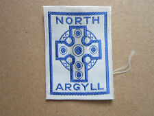 North Argyll Woven Cloth Patch Badge Boy Scouts Scouting