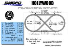 LIONEL FASTRACK HOLLYWOOD LAYOUT TRACK PACK 4 'X 8' O GAUGE design plan fast NEW