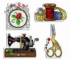 Counted Cross Stitch Kit MP STUDIO - Embroidery magnets.