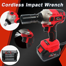 1/2'' Cordless Impact Wrench Electric Brushless Torque Drill Tool battery 18/20V