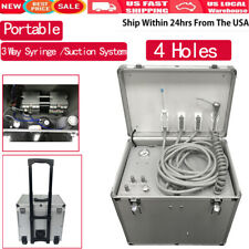 Dental Portable Mobile Delivery Unit Suction System Rolling Case 3way Syringe Us