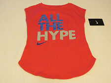 Nike active The Nike TEE t shirt youth girls 6 5-6 years 36A897 A72 DK Pnk NWT^^