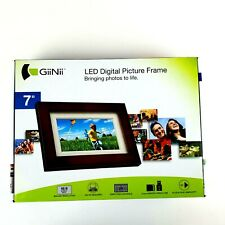 GiiNii LED Digital Picture Frame GH-713p No PC Required 128MB Memory NIB