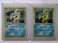 Gyarados shadowless 6/102 and base set Gyarados 6/102 Pokemon card
